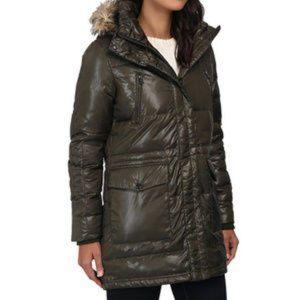 Ralph Lauren Faux Fur Hooded Down Coat Jacket
